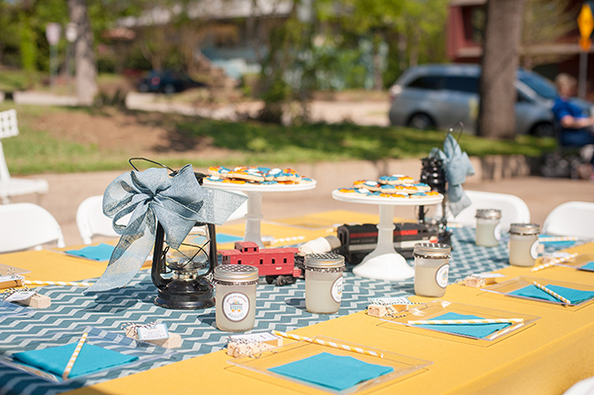 Train theme birthday party!
