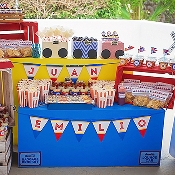 Train theme birthday party