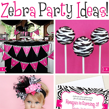 Fabulous zebra party ideas!