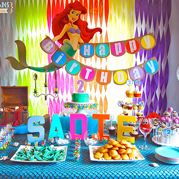 Little Mermaid theme birthday party