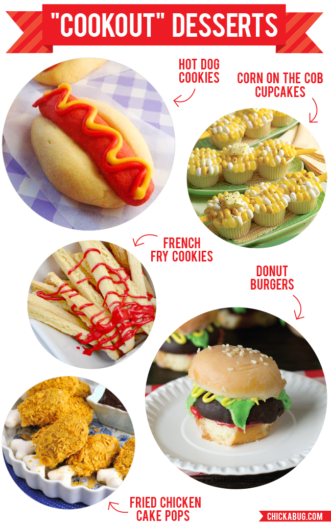 "Fun ""cookout"" desserts. Yep, all of these are SWEET!"