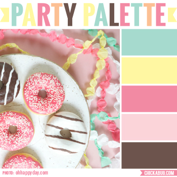Donuts and garlands #colorpalette