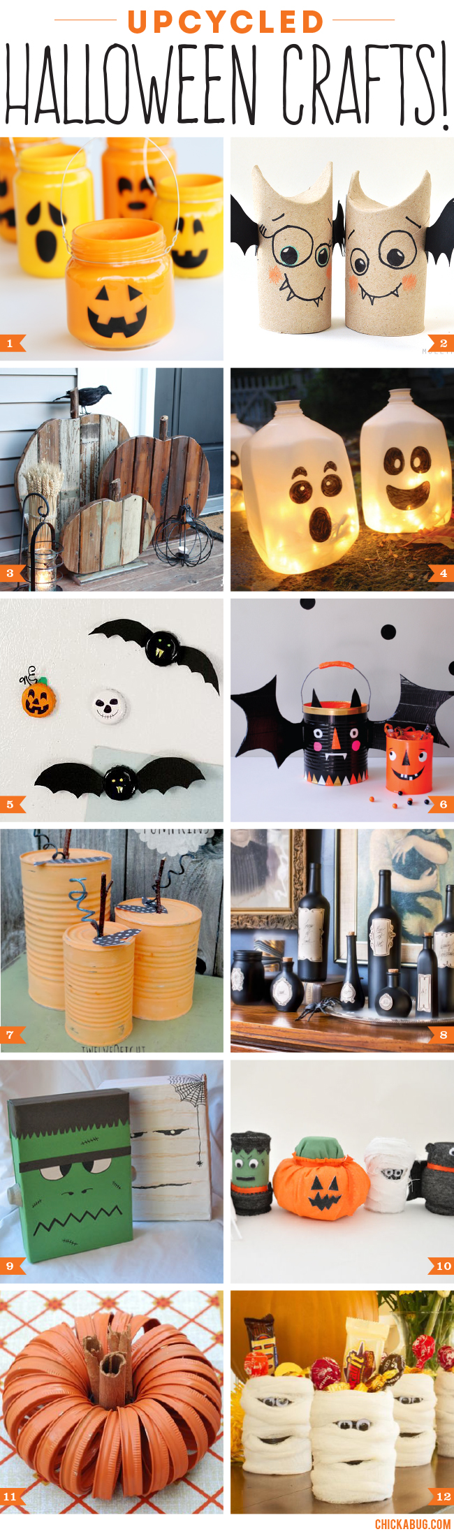Upcycled Halloween crafts and decor