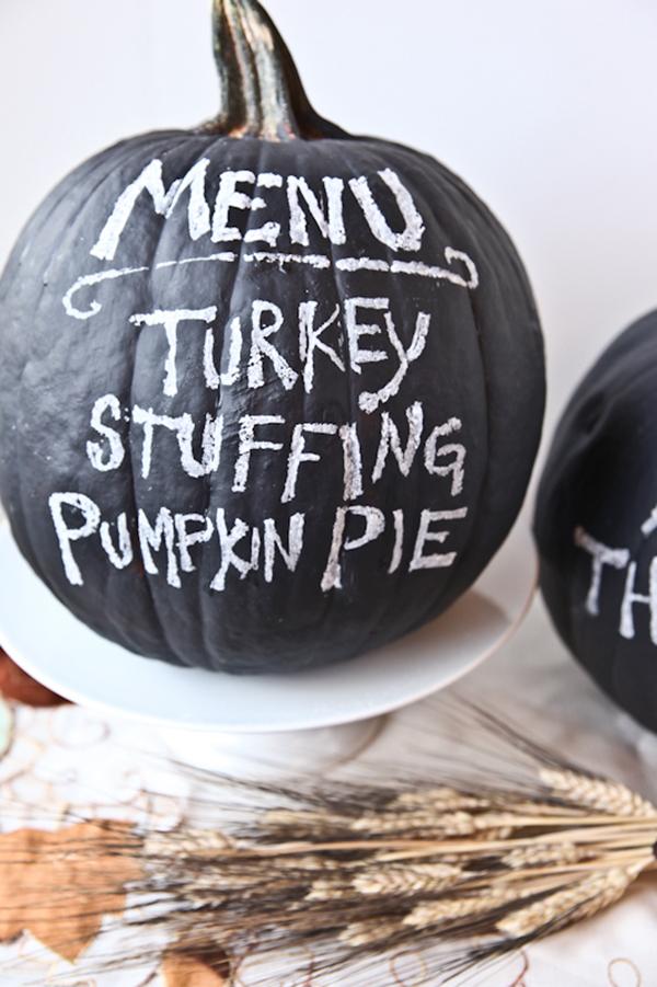 Chalkboard pumpkin menu