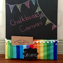 How to make a chalkboard canvas