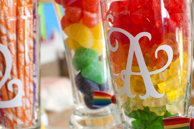 Bright and pretty rainbow theme birthday party!