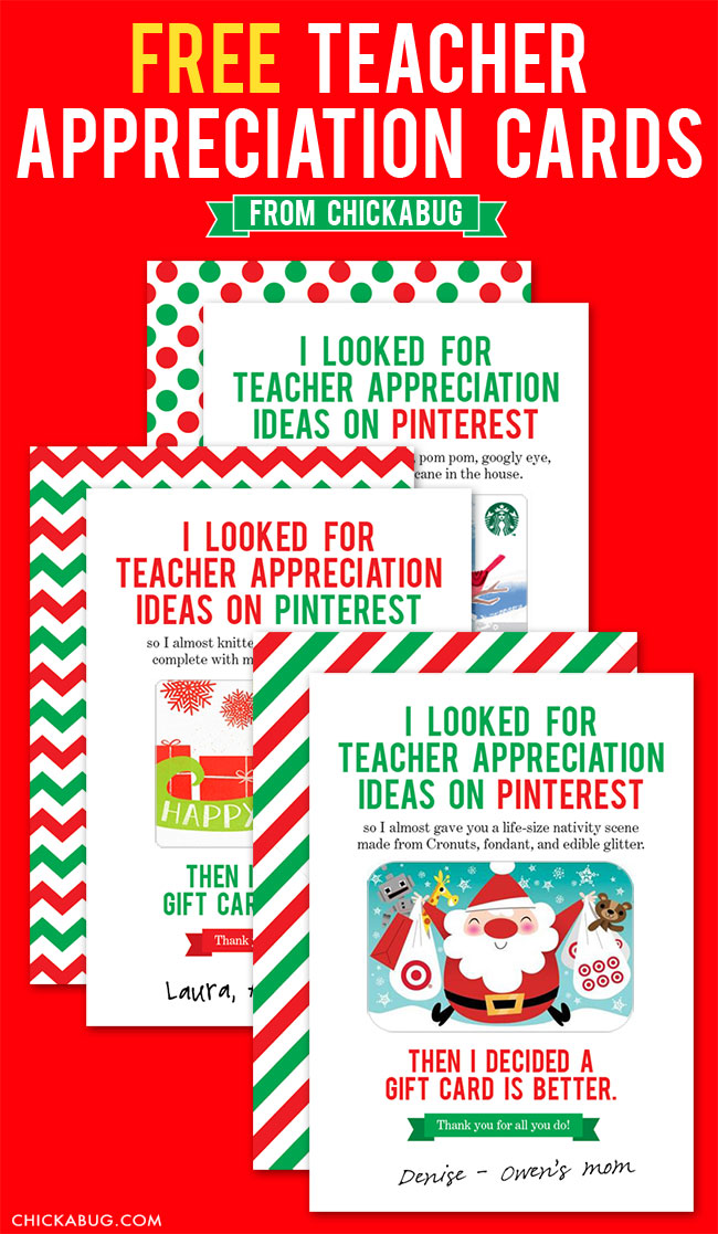 Selective image within teacher appreciation cards printable
