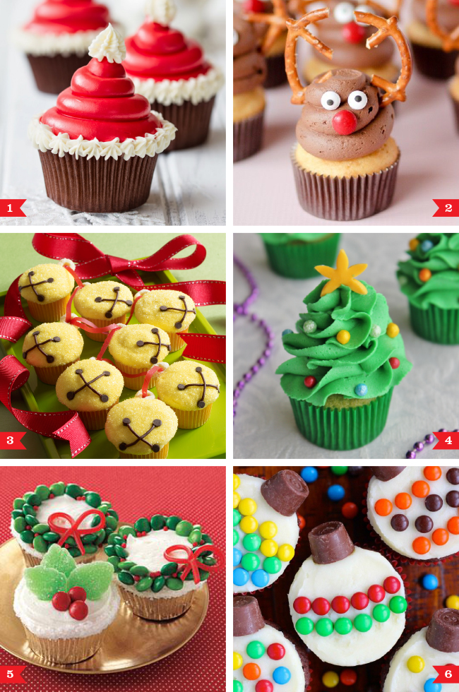 Christmas Cupcake Decorating Ideas Simple : Easy Christmas cupcakes that anyone can make
