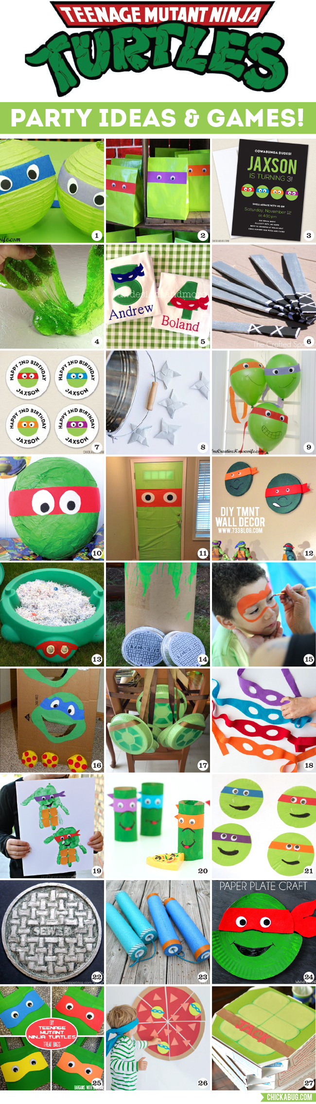 Awesome TMNT Party Ideas Chickabug