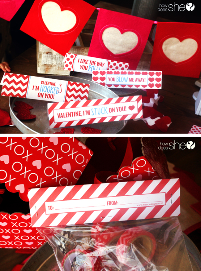 Free printable Valentine's Day gift bag labels