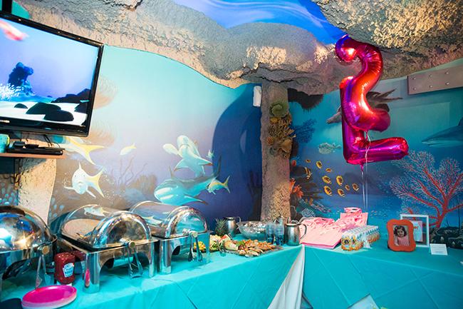 Pink goldfish birthday party!
