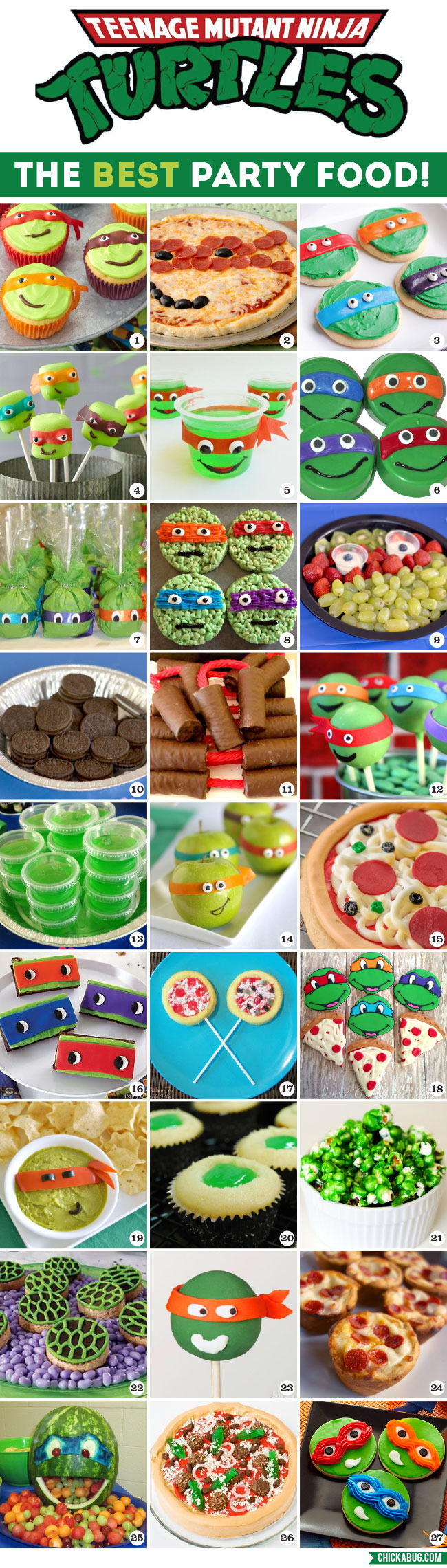 All The BEST Teenage Mutant Ninja Turtles Party Food Ideas Together In One Place