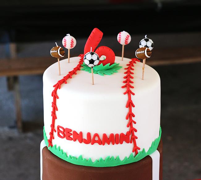 Allstar Sports Party Benjamin Is  Chickabug - All star birthday cake