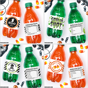 Halloween soda labels! Eek how cute are these!!