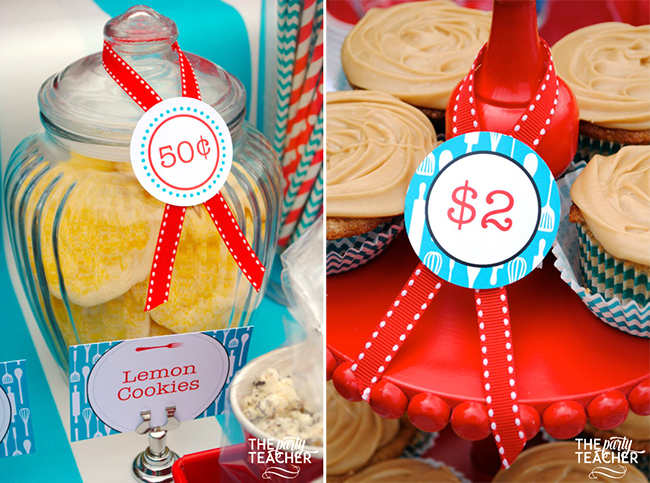 Adorable bake sale! Printables from Chickabug