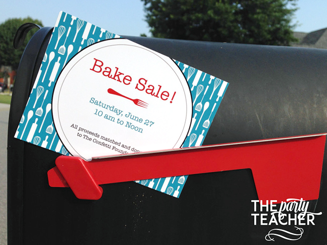 Adorable bake sale! Printables from Chickabug