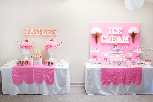 Gorgeous ice cream birthday party!