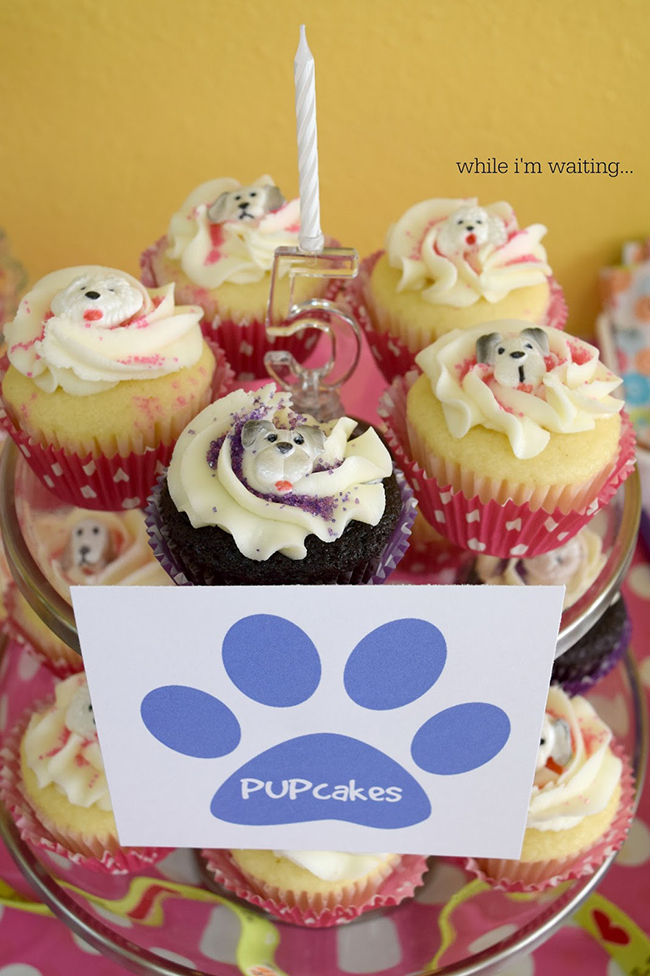 Cute puppy birthday party with free printables