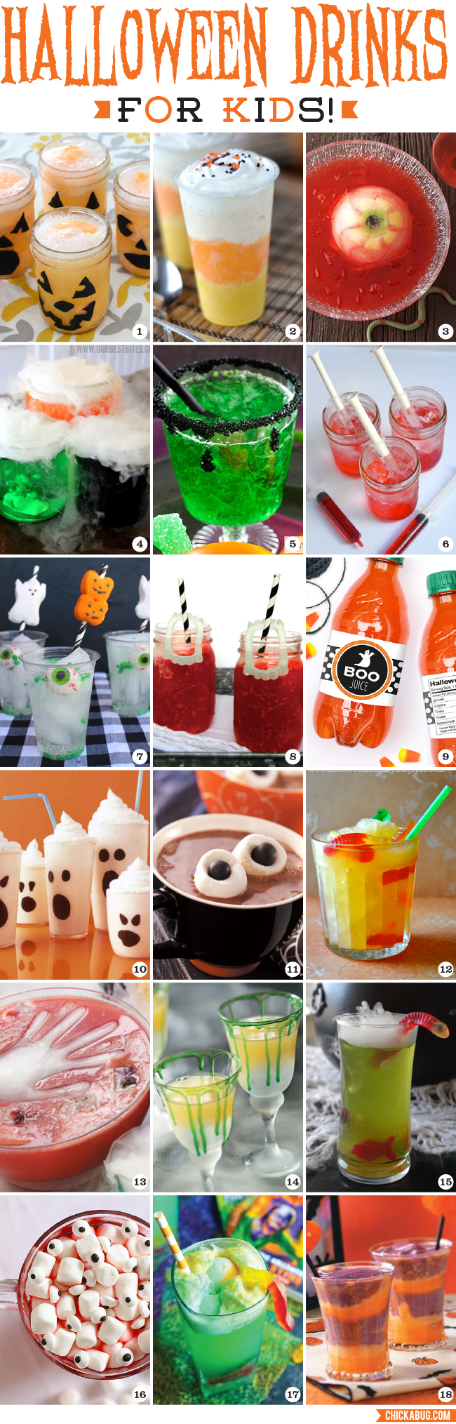 Halloween drinks for kids chickabug for Party food and drink ideas