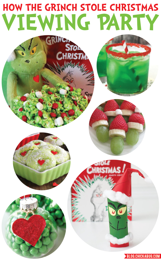 """How The Grinch Stole Christmas"" Viewing Party Ideas: Cute food and crafts for a fun and easy family movie night"