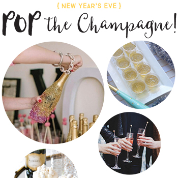 Pop the Champagne! New Year's Eve champagne recipes, DIYs and more.