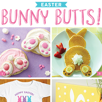 Bunny Butts for Easter! Too cute!