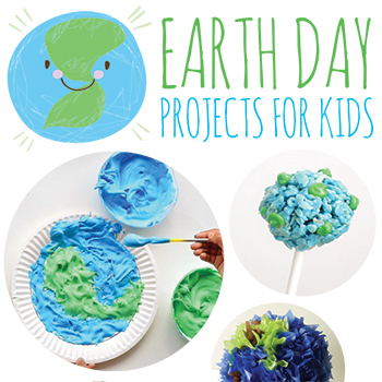 Earth Day Crafts for Kids. Super fun and easy ideas!