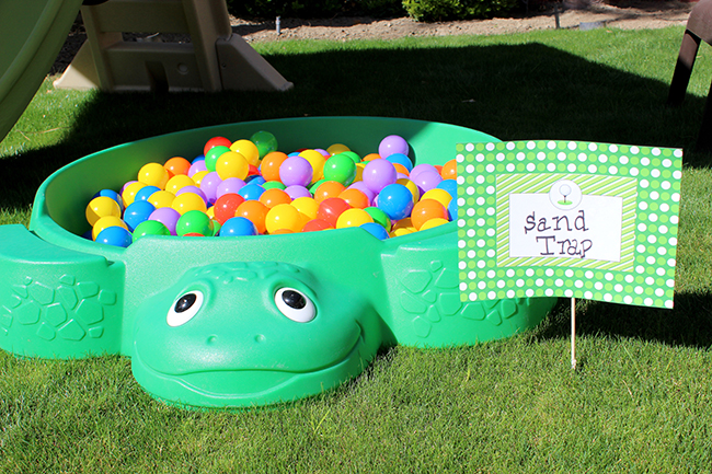 "Golf birthday party ""Sand Trap."" It was a huge hit with the littlest kids!"