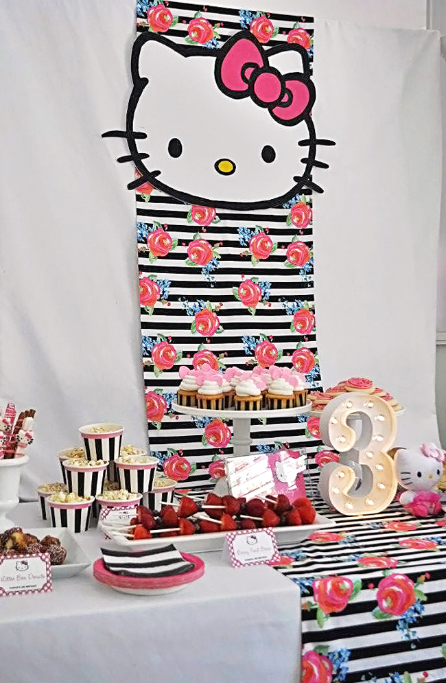 Hello Kitty Birthday Party Parker is 3 Chickabug