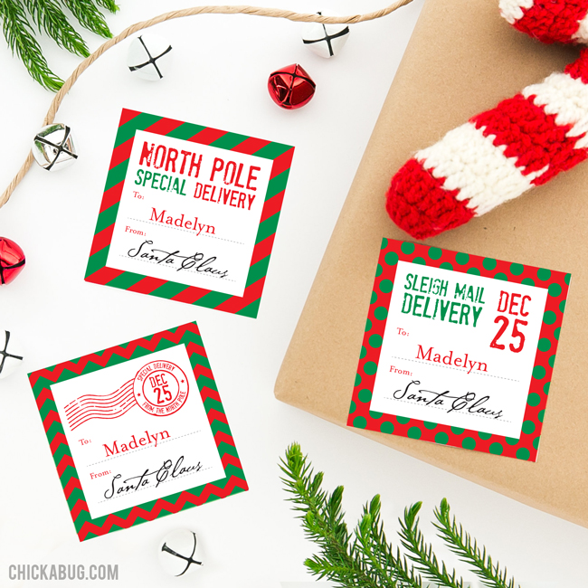 "Don't risk your kids recognizing Mom and Dad's handwriting on the ""from Santa"" gift labels under your Christmas tree - use these personalized stickers to label their presents instead! They're addressed to your child and signed by Santa himself. They look super official, because they came through the North Pole mail system, of course!"