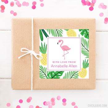 Personalized gift stickers from Chickabug