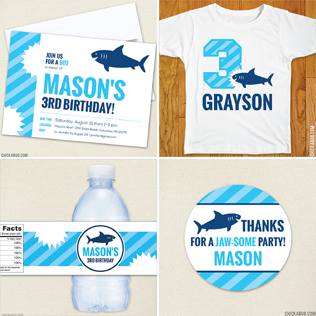 Shark Birthday Party from Chickabug!