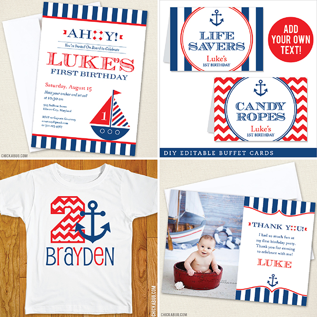 Nautical Birthday Party from Chickabug!