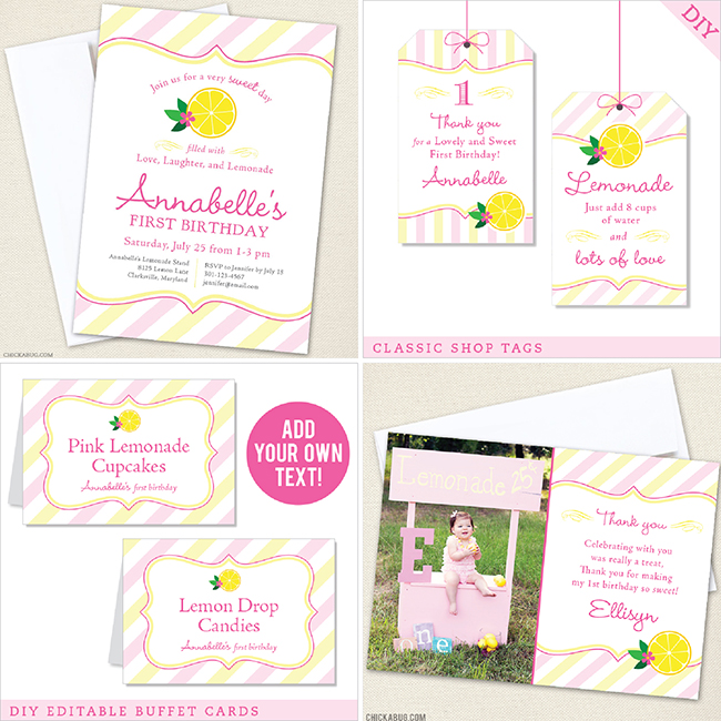 Pink Lemonade Birthday Party from Chickabug!