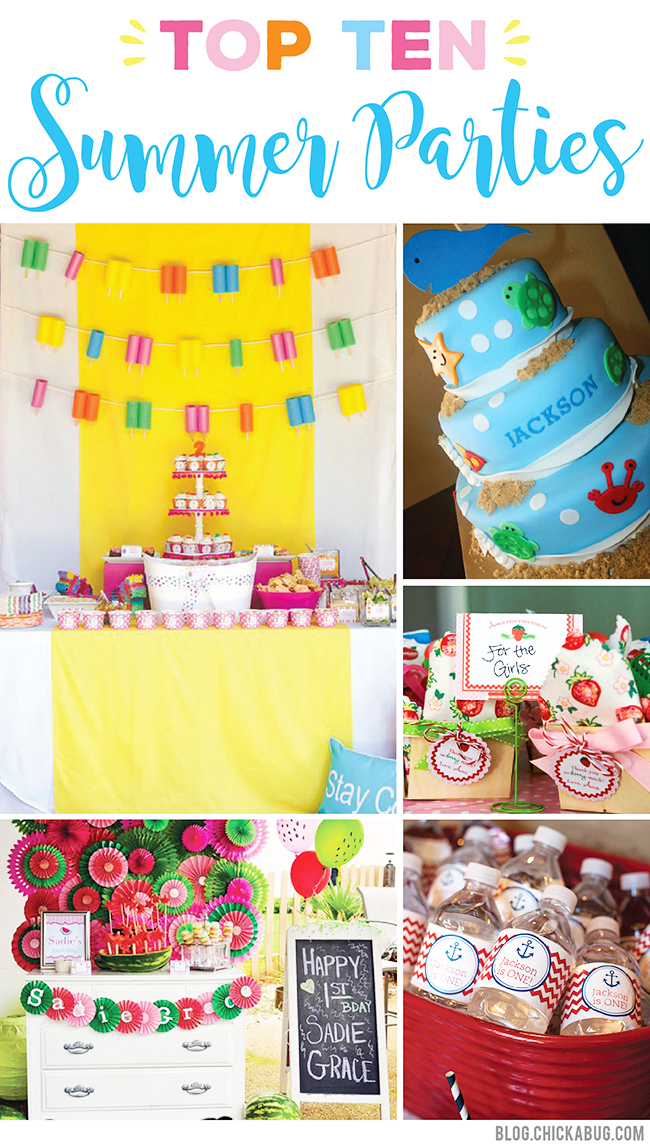 Top 10 Summer Birthday Party Themes. The inspiration you need this summer!