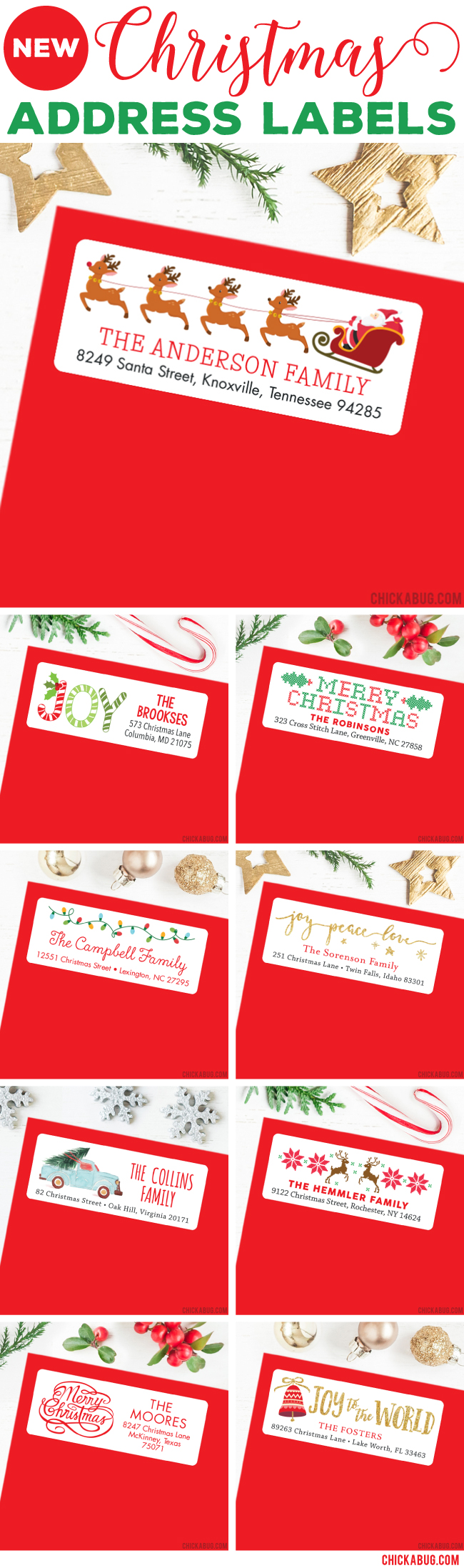 Christmas Address Labels. Tons of festive designs to choose from!
