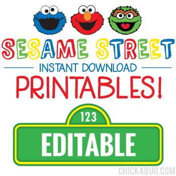 Sesame Street Birthday Printables