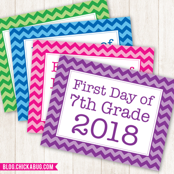 Free Printable First Day of School Signs for 2018