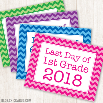 Free Printable Last Day of School Signs for 2018