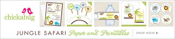 Safari theme party paper goods and printables from Chickabug - www.chickabug.com
