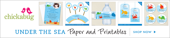 Chickabug Under the Sea theme paper and printables