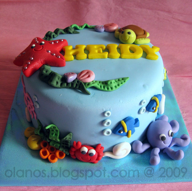 Astounding Party Ideas The Best Under The Sea Birthday Cakes Chickabug Funny Birthday Cards Online Aeocydamsfinfo