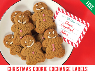 Free printable cookie exchange labels