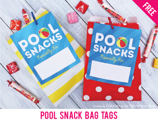 "Free ""pool snacks"" tags"