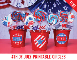 Free printable circles for the 4th of July