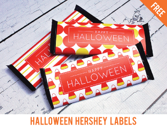 Free Halloween Hershey labels