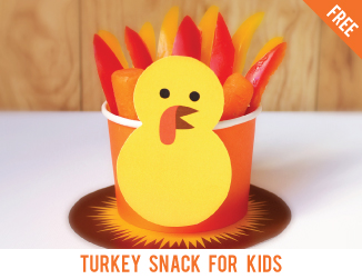 Free printable Thanksgiving turkey snack template