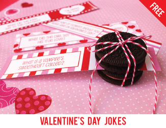 Free Valentine's Day school lunch jokes