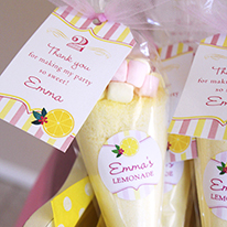 Best ever pink lemonade party favors