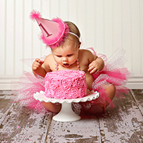 Pretty in Pink first birthday party